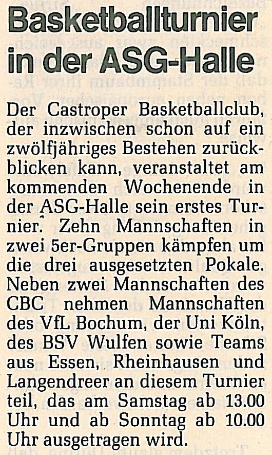 Basketballturnier in der ASG-Halle